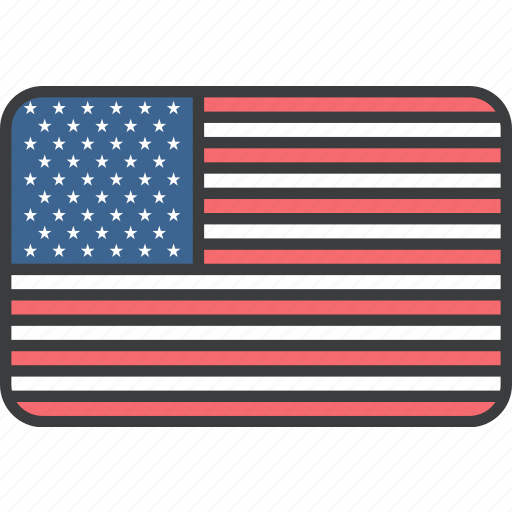 country, flag, national, states, united, us, usa icon