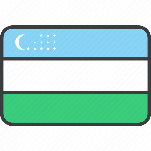 asian, country, flag, national, uzbekistan icon