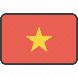 asian, country, flag, national, vietnam, vietnamese icon