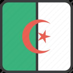 african, algeria, algerian, country, flag icon