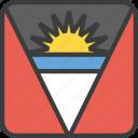 antigua, barbuda, country, flag icon