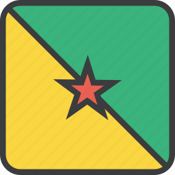 country, flag, french, guiana icon