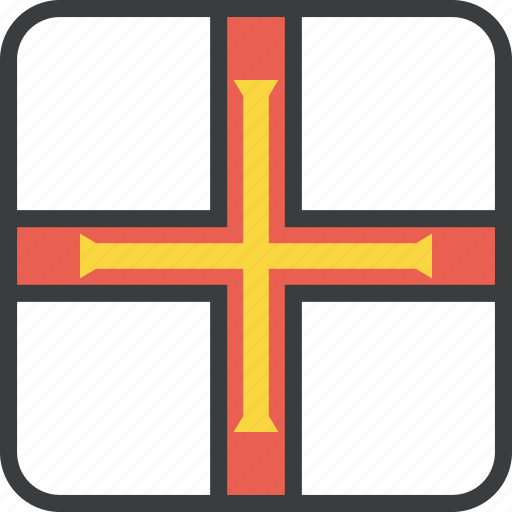 country, european, flag, guernsey icon
