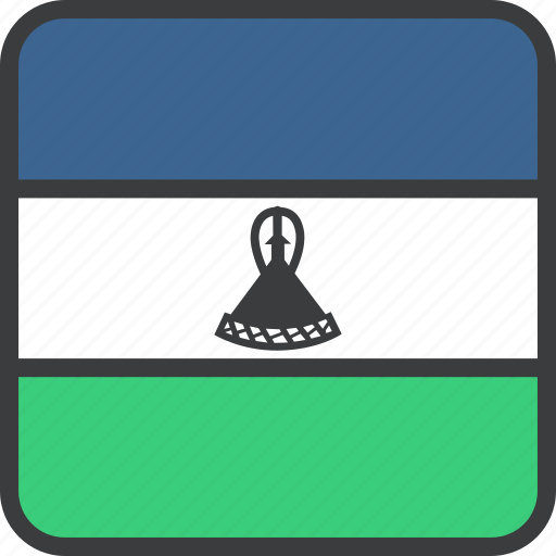 african, country, flag, lesotho icon