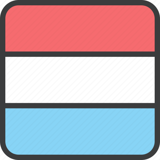 country, european, flag, luxembourg icon