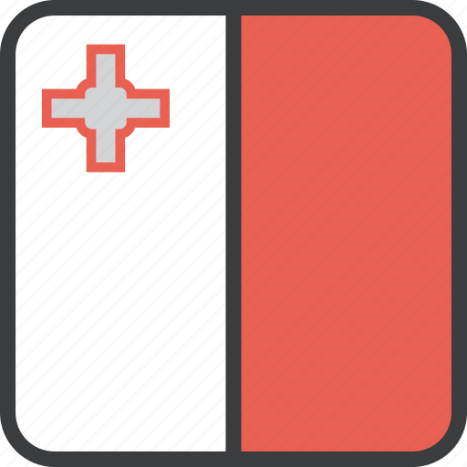 country, european, flag, malta icon