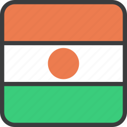 african, country, flag, niger icon