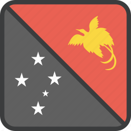 country, flag, guinea, new, papua icon