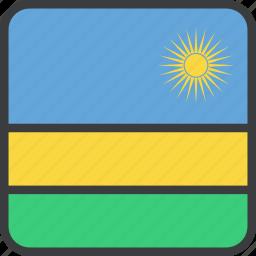 african, country, flag, rwanda icon
