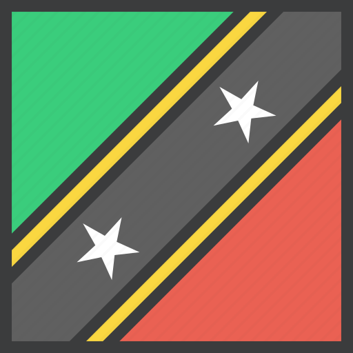 country, flag, islands, kitts, nevis, saint icon