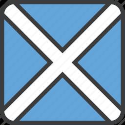 country, european, flag, scotland, scottish icon