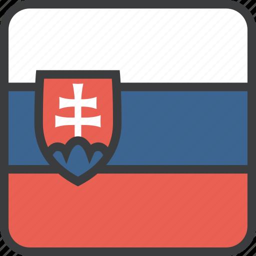 country, european, flag, slovakia, slovakian icon