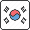 korea, country, flag, asian, korean, south