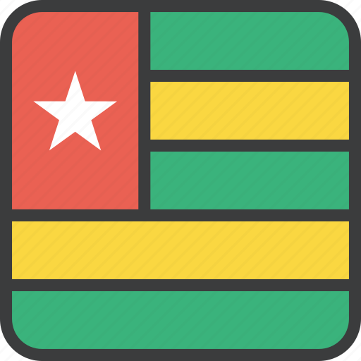 african, country, flag, togo icon