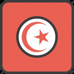 african, country, flag, tunisia, tunisian icon