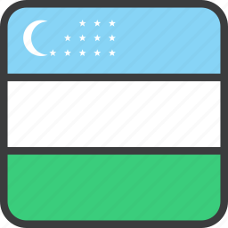 asian, country, flag, uzbekistan icon