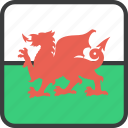 country, european, flag, wales, welsh