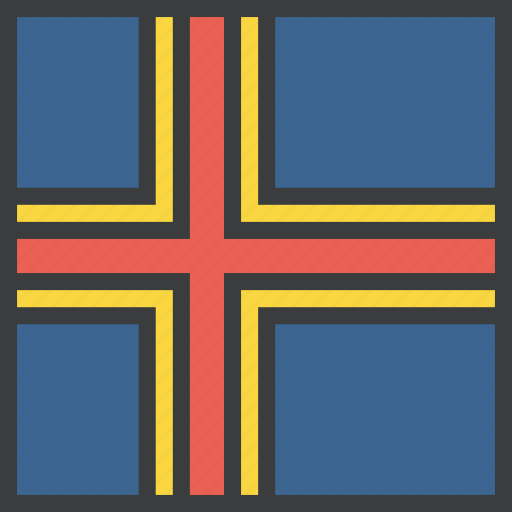 aland, country, european, flag icon