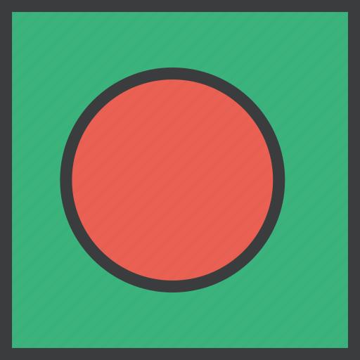 asian, bangla, bangladesh, country, flag icon
