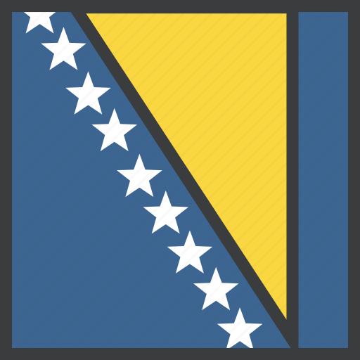 bosnia, country, european, flag, herzegovina icon