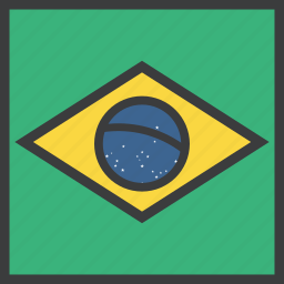brasil, brazil, country, flag icon
