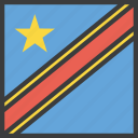 african, congo, country, democratic, flag