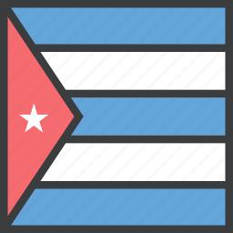 country, cuba, cuban, flag icon