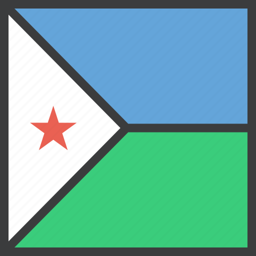 african, country, djibouti, flag icon