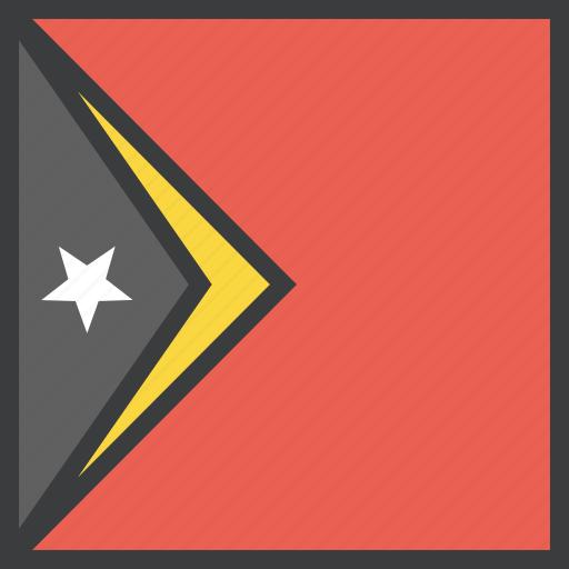 asian, country, east, flag, timor, timorean icon