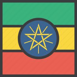 african, country, ethiopia, ethiopian, flag icon