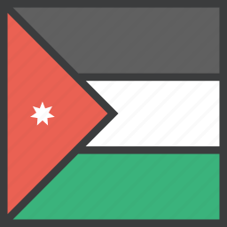 asian, country, flag, jordan icon