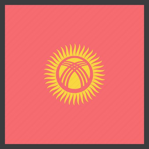 asian, country, flag, kyrgyzstan icon