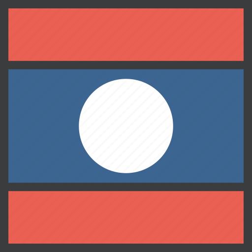 asian, country, flag, laos icon