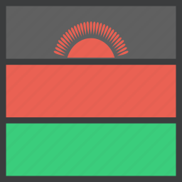 african, country, flag, malawi, malawian icon