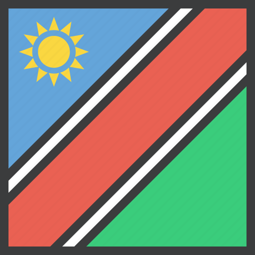 african, country, flag, namibia, namibian icon