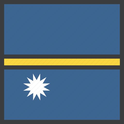 country, flag, nauru icon