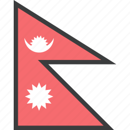 asian, country, flag, nepal, nepali icon
