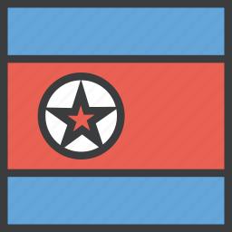 asian, country, flag, korea, korean, north icon
