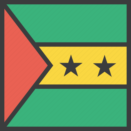 country, flag, sao, tome icon