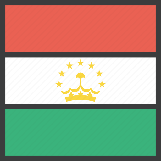 asian, country, flag, tajikistan icon