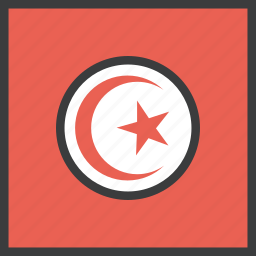 african, country, flag, tunisia, tunisian icon