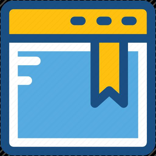 bookmark, browser, webpage, webpage ribbon, website icon