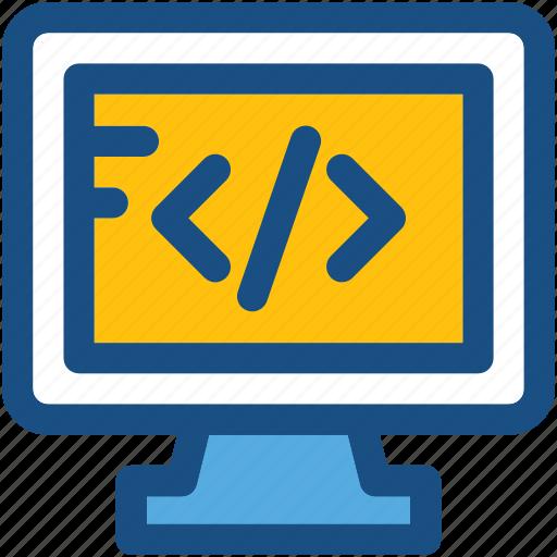 div coding, html, html coding, web development, web programming icon
