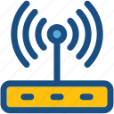 router, wifi, wifi modem, wireless network, wlan networking icon