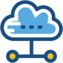 cloud computing, cloud hierarchy, cloud links, cloud sharing, networking icon