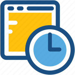 clock, schedule, screen, time, timer icon