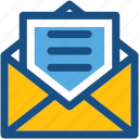 electronic mail, email, envelope, inbox, letter icon