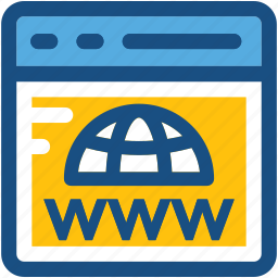 domain, globe, internet, world wide web, www icon