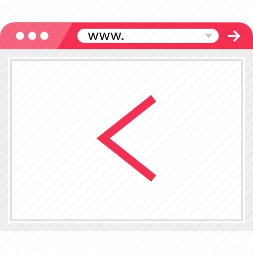 arrow, back, browser, left, online icon