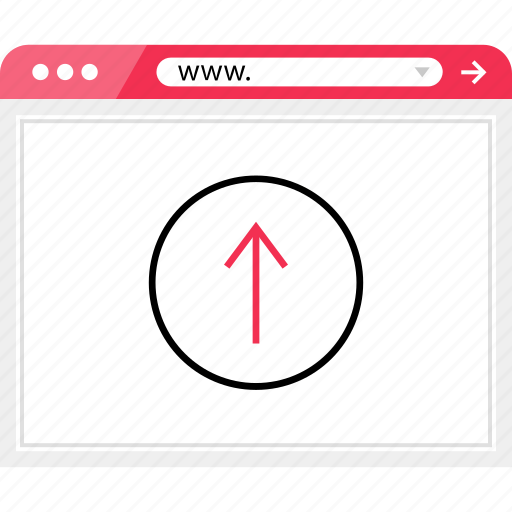 arrow, browser, good, online, up icon